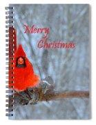 Christmas Red Cardinal Spiral Notebook