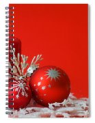 Christmas Decoration Background Spiral Notebook