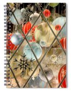 Christmas Decorations In Window Spiral Notebook