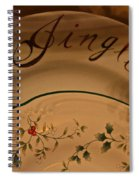Christmas Dinnerware Spiral Notebook