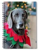 Christmas Dog Spiral Notebook