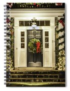 Christmas Door 2 Spiral Notebook