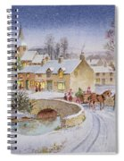 Christmas Eve In The Village  Spiral Notebook