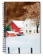 Christmas Farm Spiral Notebook