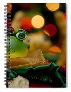 Christmas Frog Spiral Notebook