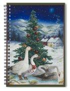 Christmas Geese Spiral Notebook