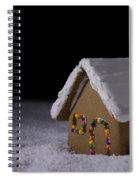 Christmas Gingerbread Cottage At Night Spiral Notebook