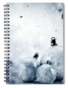 Christmas Glass Balls On Winter Vintage Background Spiral Notebook