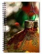 Christmas Gold Spiral Notebook