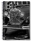 Christmas Grillwork - Bw Spiral Notebook