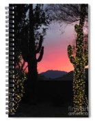 Christmas In Arizona Spiral Notebook
