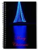 Christmas In Blue Spiral Notebook