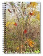 Christmas In Nature Spiral Notebook