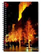 Christmas In New York - Trees And Star Spiral Notebook