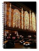 Christmas In Paris - Gallery Lights Spiral Notebook
