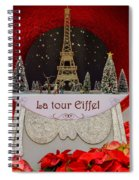 Christmas In Paris Spiral Notebook