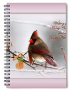 Christmas In Pink - Cardinal Christmas Spiral Notebook