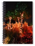Christmas In The Sand Spiral Notebook