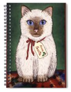 Christmas Kitten Spiral Notebook