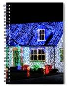 Christmas Lighthouse Spiral Notebook