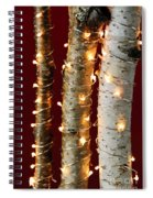 Christmas Lights On Birch Branches Spiral Notebook