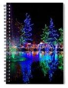 Christmas Lights Spiral Notebook