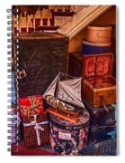 Christmas Luggage Color Spiral Notebook