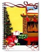 Christmas - Memories - Ribbons - Bows Spiral Notebook