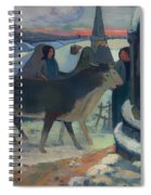 Christmas Night Blessing Of The Oxen Spiral Notebook