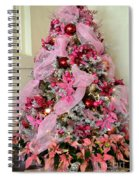 Christmas Pink Spiral Notebook