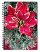 Christmas Poinsettia Spiral Notebook
