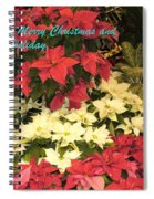 Christmas Poinsettias  Spiral Notebook
