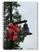 Christmas Post And Bow Spiral Notebook