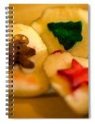 Christmas Potato Stamps Spiral Notebook