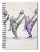 Christmas Pudding Spiral Notebook