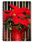 Christmas Red Poinsettia Spiral Notebook