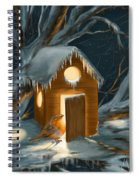 Christmas Robin Spiral Notebook