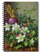 Christmas Roses Spiral Notebook