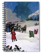 Christmas Scene Spiral Notebook