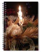 Christmas Shining Light Spiral Notebook