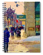 Christmas Shoppers Ogilvys Enchanted Village Window Display A Montreal Xmas Tradition Carole Spandau Spiral Notebook