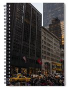 Christmas Shopping On The World Famous Fifth Avenue Spiral Notebook
