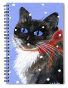 Christmas Siamese Spiral Notebook