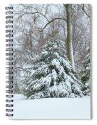 Christmas Snow Spiral Notebook