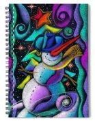 Christmas Snowman Spiral Notebook