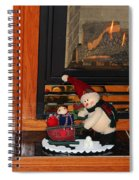 Christmas - Snowmen Collection- Fireplace Spiral Notebook
