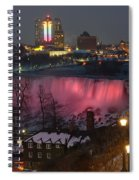 Christmas Spirit At Niagara Falls Spiral Notebook