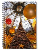 Christmas Spirit In Paris At The Galeries Lafayette 1 Spiral Notebook