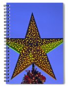 Christmas Star During Dusk Time Spiral Notebook
