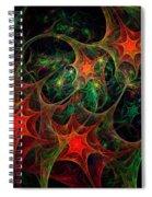 Christmas Stars Spiral Notebook